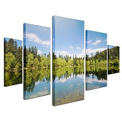 'Lake Maix' 5-piece Canvas Wall Art Set