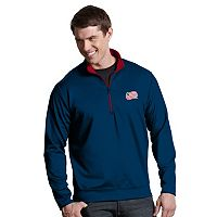 Men's Antigua New England Revolution Leader 1/4-Zip Pullover