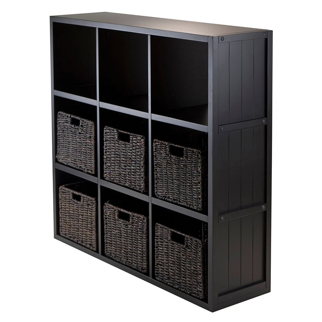 Winsome Timothy 7-piece 9-Cube Storage Shelf and Basket Set
