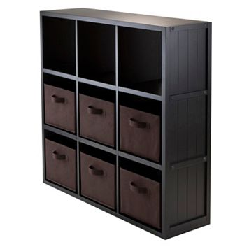 Winsome Timothy 7-piece 9-Cube Storage Shelf & Basket Set