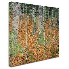 'The Birch Wood' Canvas Wall Art