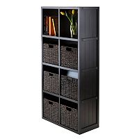 Winsome Timothy 7-piece 8-Cube Storage Shelf & Basket Set