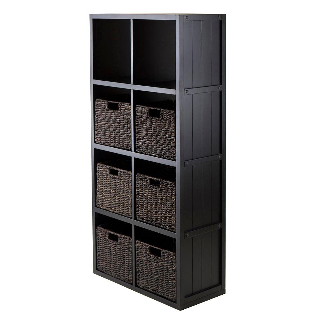 Winsome Timothy 7-piece 8-Cube Storage Shelf and Basket Set