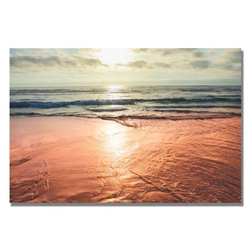 """""""Sunset Beach Reflections"""" Canvas Wall Art"""