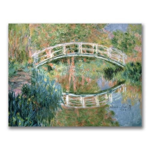 """""""The Japanese Bridge, Giverny'' Canvas Wall Art by Claude Monet"""