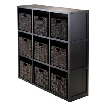 Winsome Timothy 10-piece 9-Cube Storage Shelf & Basket Set