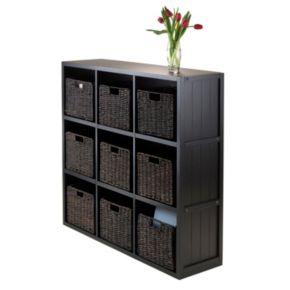 Winsome Timothy 10-piece 9-Cube Storage Shelf and Basket Set