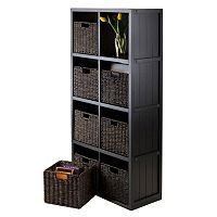 Winsome Timothy 9-piece 8-Cube Storage Shelf & Basket Set