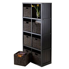 Winsome Timothy 9 pc 8-Cube Storage Shelf & Basket Set