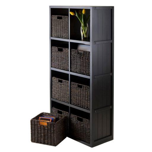 Winsome Timothy 9-piece 8-Cube Storage Shelf and Basket Set