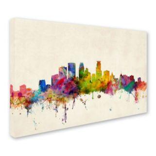 """Minneapolis Minnesota"" Canvas Wall Art"