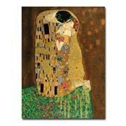 'The Kiss' Canvas Wall Art by Gustav Klimt