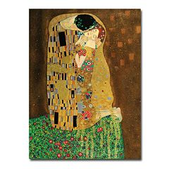 'The Kiss' Canvas Wall Art by Gustav Klimt