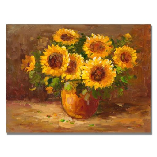 """Sunflowers Still Life"" Canvas Wall Art"