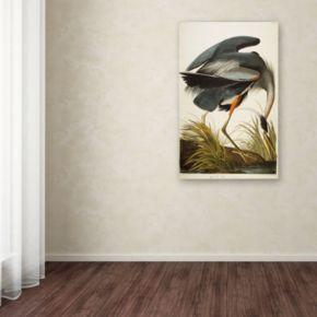 """Great Blue Heron"" Canvas Wall Art"