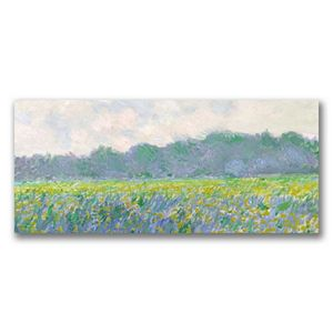 """""""Field of Yellow Irises at Giverny"""" Canvas Wall Art by Claude Monet"""