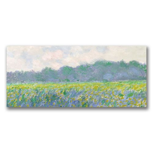 """Field of Yellow Irises at Giverny"" Canvas Wall Art by Claude Monet"
