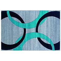 Linon Corfu Collection Circles Rug