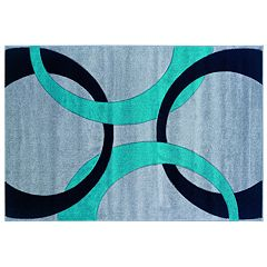 Linon Corfu Collection Circles Rug