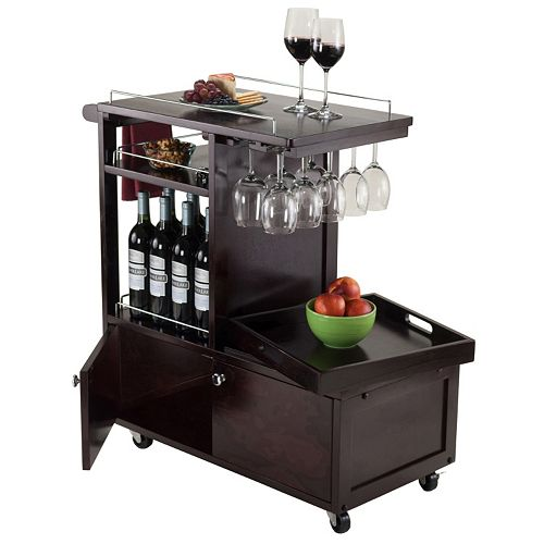Winsome Galen Entertainment Wine Cart