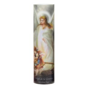 The Saints Collection 8.2'' x 2.2'' Guardian Angel Flameless LED Prayer Candle