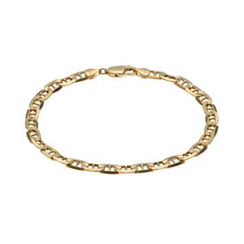 14k Gold Marine Link Bracelet