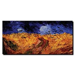 'Wheatfield with Crows' Canvas Wall Art by Vincent van Gogh