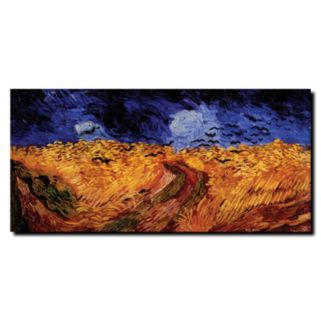 """""""Wheatfield with Crows"""" Canvas Wall Art by Vincent van Gogh"""