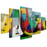 """Strings"" 5-piece Canvas Wall Art Set"