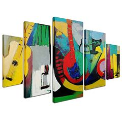 'Strings' 5 pc Canvas Wall Art Set