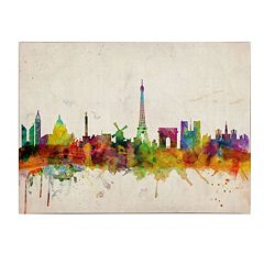 'Paris Skyline' Canvas Wall Art