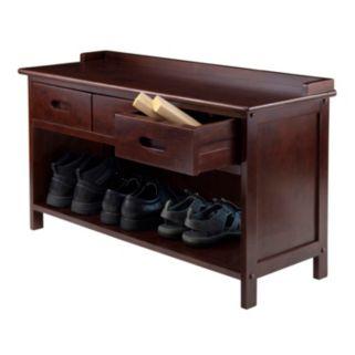 Winsome Adriana 3-Drawer Storage Bench