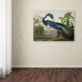 """""""Louisiana Heron"""" Canvas Wall Art"""