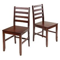 Winsome Hamilton 2-piece Dining Chair Set