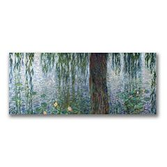 'Water Lilies Morning' Canvas Wall Art by Claude Monet