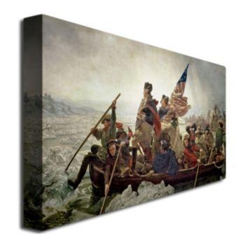 """Washington Crossing Delaware River in 1776"" Canvas Wall Art"