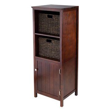 Winsome Brooke 3-piece Storage Cabinet & Basket Set
