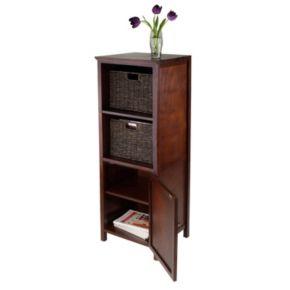 Winsome Brooke 3-piece Storage Cabinet and Basket Set