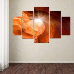 """Smooth 2"" 5-piece Canvas Wall Art Set"