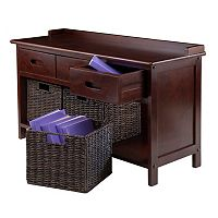 Winsome Adriana 4 pc Storage Bench & Basket Set