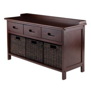 Winsome Adriana 4-piece Storage Bench and Basket Set