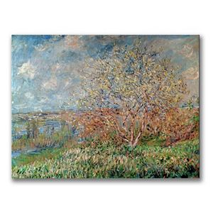 """Spring 1880"" Canvas Wall Art by Claude Monet"
