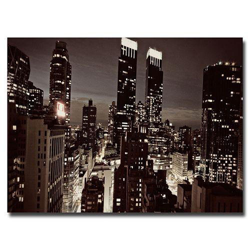 """NYC After Dark"" Canvas Wall Art"