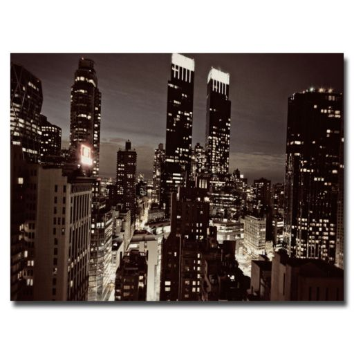 """NYC After Dark"" Canvas Wall Art"