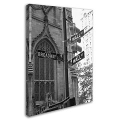 'Wall Street Signs' Canvas Wall Art