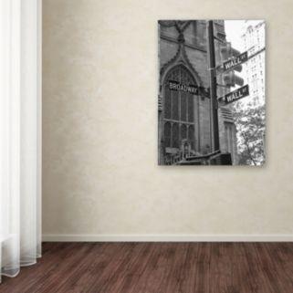 """Wall Street Signs"" Canvas Wall Art"