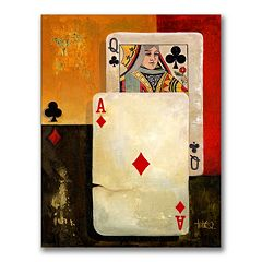 'Poker Queen' Canvas Wall Art