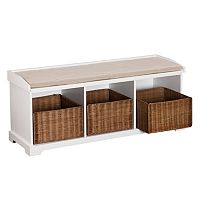 Southern Enterprises Chipley Entryway Storage Bench
