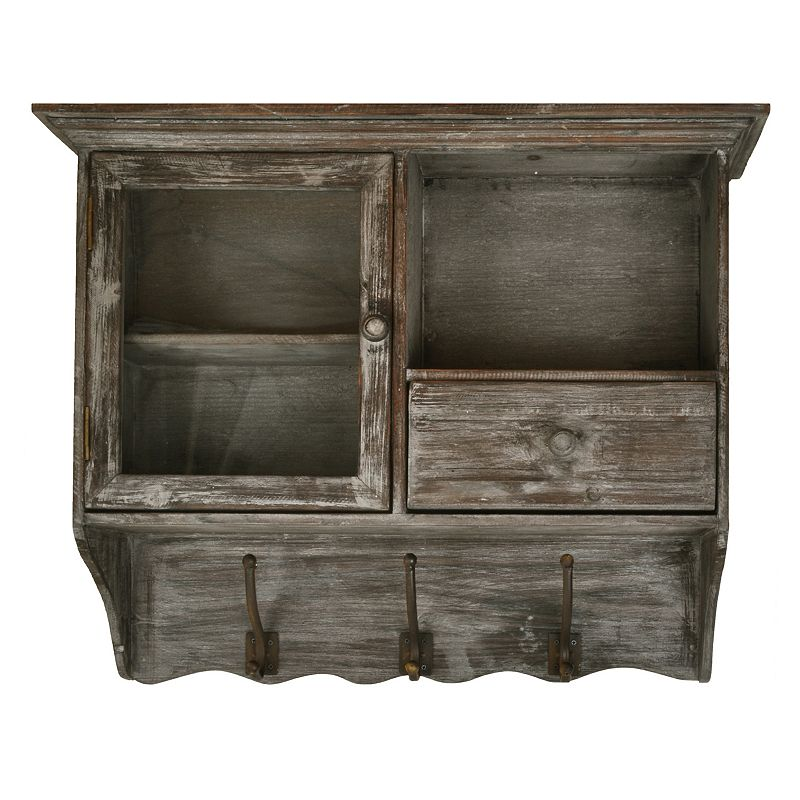 Distressed 3 Hook Cabinet Wall Decor