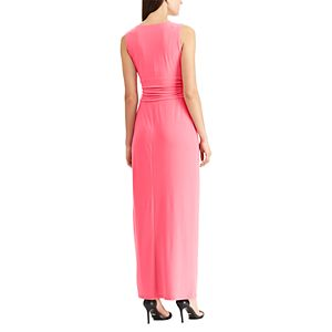 Women's Chaps Gathered Ruffle Evening Dress